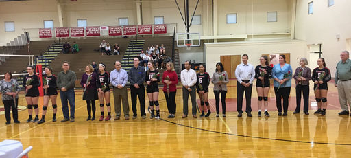 Varsity Volleyball Completes Spectacular Come-From-Behind Win on Senior Day