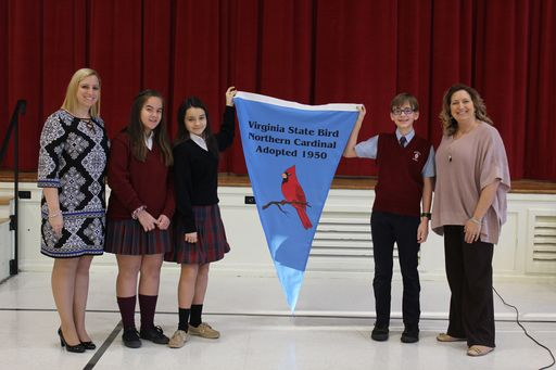 Walsingham Lower School Presented With Virginia Naturally Banner For Environmental Conservation Efforts
